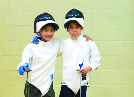 Two Young fencers