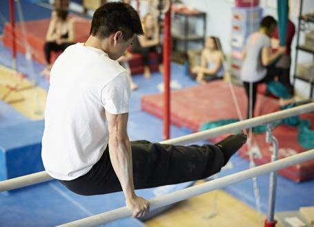 Man on Parallel bars